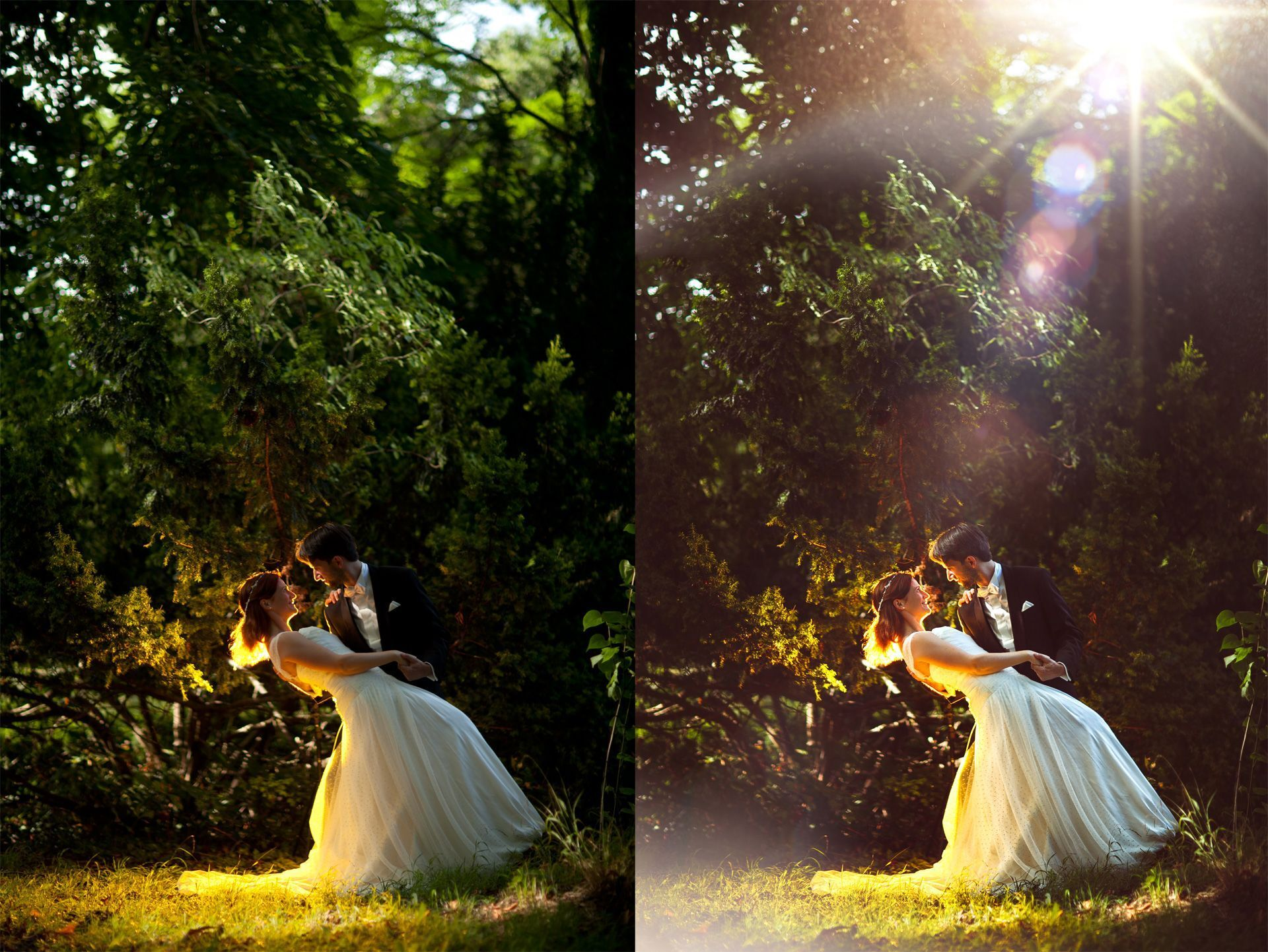 obróbka zdjęć weselnych
