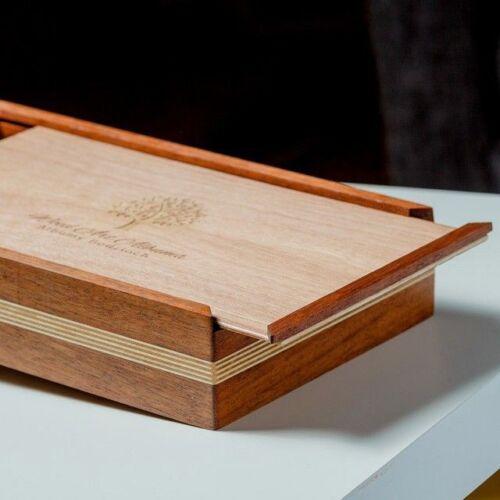 drewno egzotyczne pudelko na odbitki